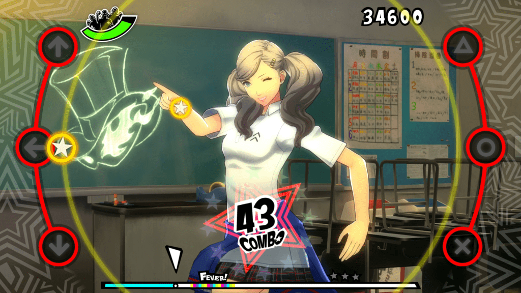 A screenshot of Ann Takamaki in the PlayStation 4 version of Persona 5: Dancing in Starlight